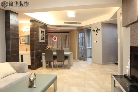 钱江方洲装修图片-三室两厅装修效果图-现代简约风格